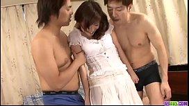 Moe Yoshikawa Japanese shower home sex with hubby - More at javhd.net