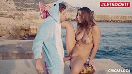 LETSDOEIT - Unicorn Fetish Sex With Hot Teen Taylor Sands at The Beach