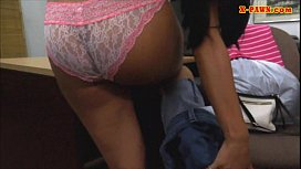 Cute girl sells her old coat and banged by perv pawnkeeper