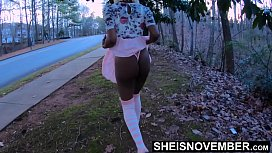 I Lied To My Wife To Fuck Her Daughter In The Woods, &amp_Said We Were Going To The Store, Innocent Ebony Msnovember Secrete Affair With Her Older Step Father In Their Hidden Place Dogging Hardcore Sex, Wearing A Short Dress &amp_ Pink Stockings On Sheisn
