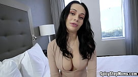 Busty brunette UK stepmom taboo fuck with her stepson