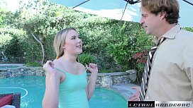 Alyssa Cole Begs For Stepdads Cock To Fill Her Tight Teen Pussy