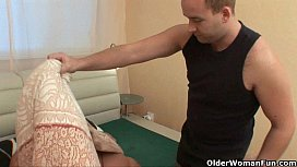 Russian porn with mature hairy pussy