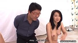 Teen masturbates as the milf blows a pecker