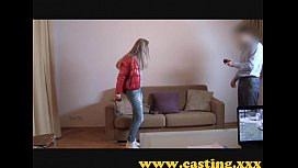 Casting - Athletic babe cums for real xxx image