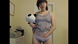 girl ha ilcamgirl stripping on live webcam