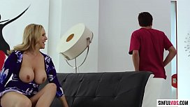 Mature Mom Julia Ann seducing shy boy to fuck her now - Axel Braun MILF Fest 3 Scene 1