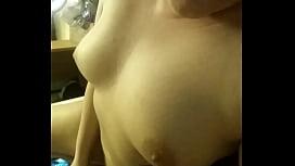 Girl cums time and eats her cum