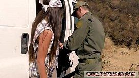Blowjob under cam and brunette babe gets licked Juicy Latin smuggler