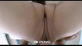 POVD - Flexible petite Lucy Doll is oiled up and fucked in pov