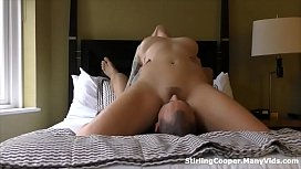 Tattooed English Babe Sits on his Face in 69 Blowjob