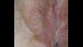 Creampie Redhead BBW wife pussy