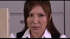 Japanese secretary masturbates for work friend