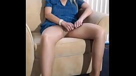 MILF Porsha'_s 1st Nude Pantyhose Strip