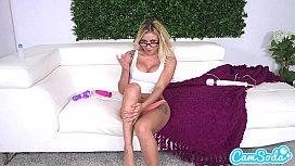 hot blonde goes crazy masturbating with her huge vibrating dildo katestube