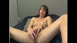 White Hairy Teen Fucks Dildo and Spreads Ass on Cam -tinycam.org