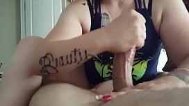 Handjob from girlfriend