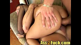 Pretty latina fucked by two guys