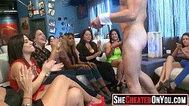 39 Lovely sluts guzzling cum at sex party!13