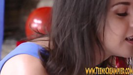 Hairy teens muff pounded