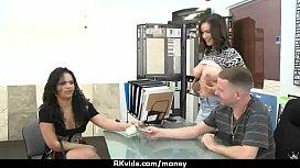 Slutty amateur babe is paid cash from some crazy public sex 23