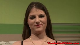 Hairy submissive facialized by maledom