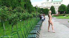 Sweet blonde teen mina naked on public streets