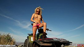 DaringSex Solo Outdoors Masturbation in the Mountains