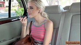 Cute teen Naomi Woods fucked in the car