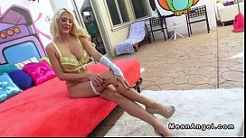 Busty blonde Courtney Taylor gags on huge dick and anal fucked