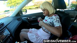 60fps 4k UHD Step Father Seduced By Big Areolas Boobs &amp_ Nipples On His Beautiful Curvy Step Daughter Body Inside Of Car Parked Outdoors Sheisnovember