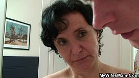 Son-in-law surprised his wifes mom sex image