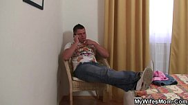Son-in-law surprised his wifes mom xxx video