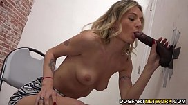 Natasha Starr Having Interracial Sex At A Glory Hole