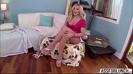 Hot pornstar Amy is craving to get anal fucked with rock hard massive dicks