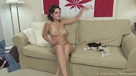 Lusty babes drill each other with a dildo