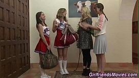 Lesbian milf gets rimmed