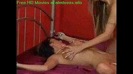 Lesbian bondage with strap on