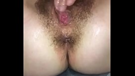 Teen With A Hairy  Pussy Masturbating In Front Of BF And Gets Cummed