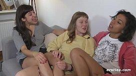 All Amateur Lesbian Threesome