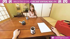 VRBangers.com Japanese MILF Creampied and Squirts Hard