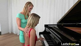 Cute Lovely Lesbos Have Fun On Camera vid-27