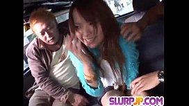 Bang bus experience for insolent Miyo Kasuga