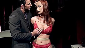 Gorgeous milf woman, Kathy Parker, with natural big boobs, trained to be sex slave, and teased. Part 1.