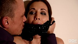 Russian Mistress Anna Polina pours loads of hot wax all over Tasha Holz