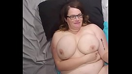 Bbw wife fucked and cum on face, tits and belly
