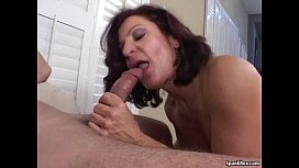 Smoking granny shows her sucking skills mom forced anal