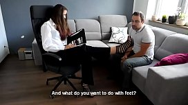 THE Best Office Foot fetish Femdom - watch more on xfetish.net