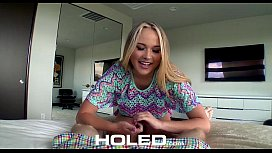 HOLED - Alyssa Cole and her well prepped asshole fucked by bf
