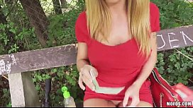 Huge tits blonde Eurobabe Isabella Clark nailed and facialed